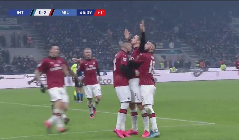 VIDEO: Zlatan Ibrahimovic mål mot Inter (0-2) - 2020-02-09