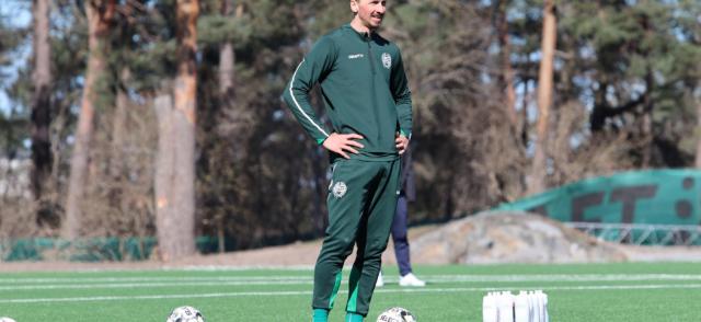 Zlatan tränade med Hammarby under torsdagen