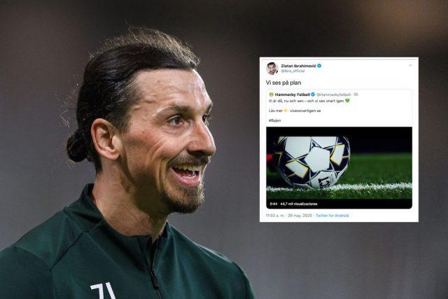 Zlatans hälsning till Bajen: