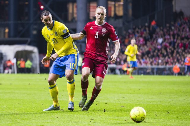Simon Kjær som Zlatan: