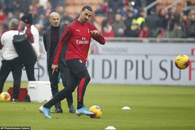 Zlatan tillbaka i träning -